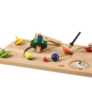 Kreisel Set aus Holz für Kinder in Kindergarten- und Schulalter