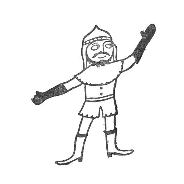 gestempelter Ritter