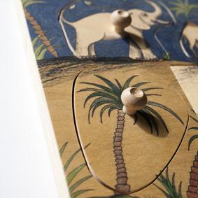 Foto: Detailaufnahme Krippenstempelpuzzle, Palme
