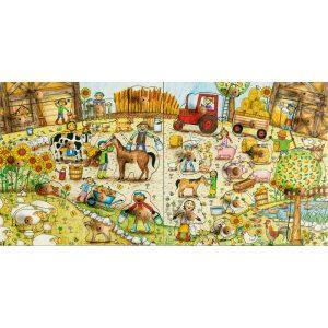 Foto: Gesamtaufnahme Bauernhofstempelpuzzle