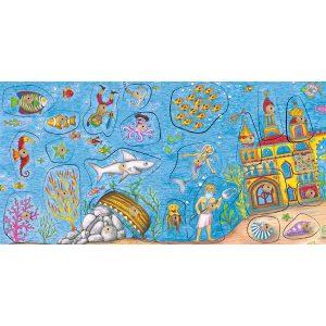 Foto: Gesamtaufnahme Stempelpuzzle Unterwasserwelt