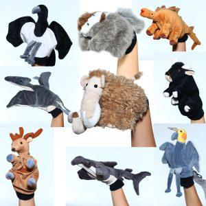 Foto: 9 Handpuppen Tiere