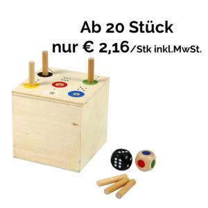 Ab in die Box, Gesellschaftsspiel aus Holz für Kindergarten- und Schulkinder - ab 20 Stück billiger