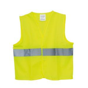 Kinder-Warnweste gelb mit Reflektorstreifen