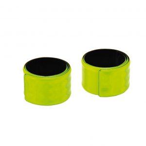 zwei eingerollte Reflektorbänder