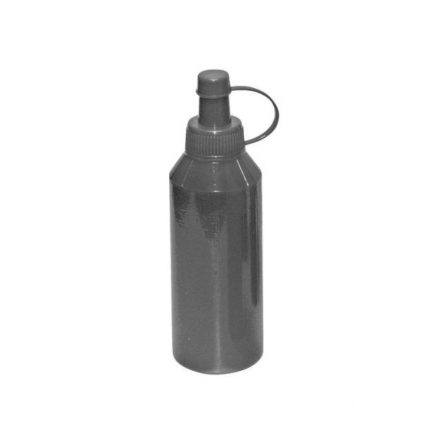 Foto: Plastikfläschchen mit schwarzer Stempelfarbe