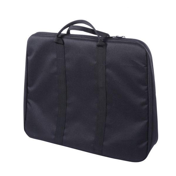 Foto: schwarze Tasche für Leuchtstaffelei