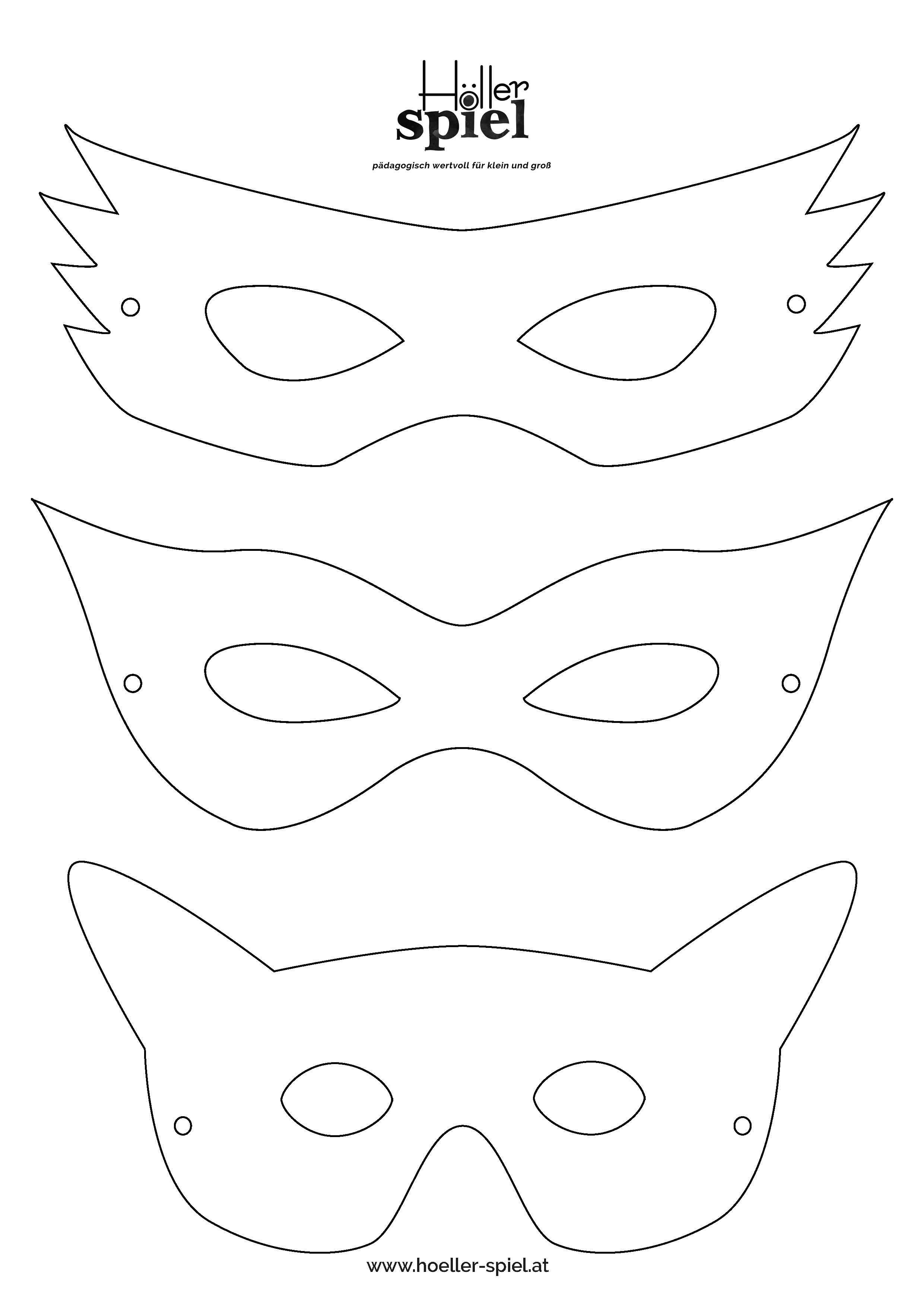 Faschingsmasken Vorlage Zum Ausmalen Children 1