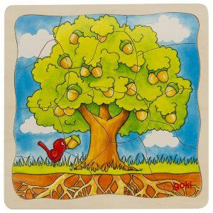 Schichtenpuzzle Baum
