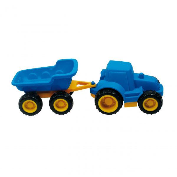 Foto: Traktor mit Anhänger für Sandkiste, Schnee und Kinderzimmer
