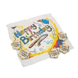 """magisches Handtuch mit der Aufschrift """"Happy Birthday"""""""