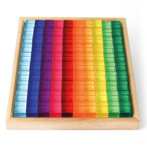100 Acrylwürfel zum Bauen, Zählen und Rechnen