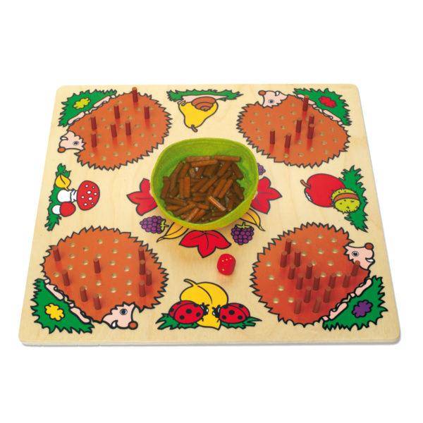 Gesellschaftsspiel Mecki & Co von Beleduc aus Holz für den Kindergarten