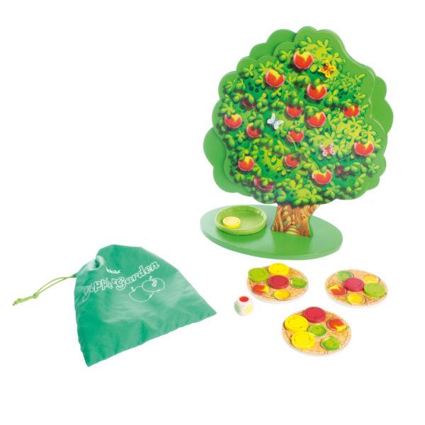 Gesellschaftsspiel für Kinder Apple Garden von Beleduc aus Holz für den Kindergarten