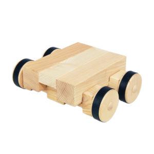 4/4 Bauplatte auf 4/4 2er Rädern aus Holz für Kinder