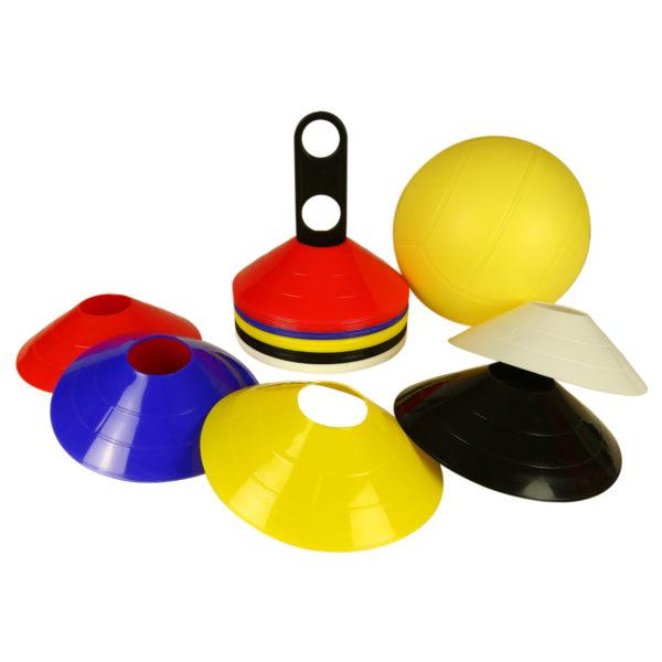 50-teiliges Markierungskegel-Set aus flexiblem Kunststoff