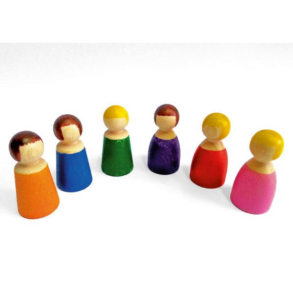 6 Holzfiguren von Bauspiel für Kinder