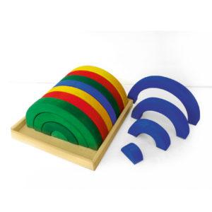 Bunte Bögen Regenbogen-Holzbausteine für Kinder