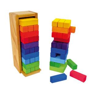 Buntes Stapelspiel aus Holz für Kinder