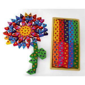 Bunte Dreiecke Bausteine mit Funkelsteinen für Kinder