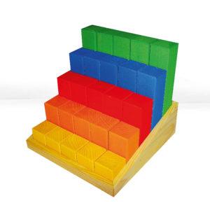 Junior-Treppe bunte Bausteine in Treppenform für Krippenkinder von Bauspiel