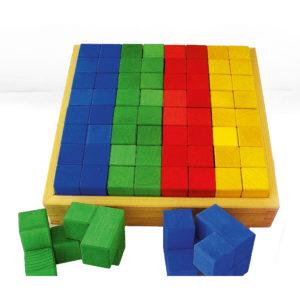 Junior-Winkelwürfel bunte Holzbausteine für Kinder von Bauspiel
