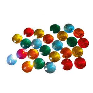 25 Stück Riesenfunkelsteine in 5 Farben