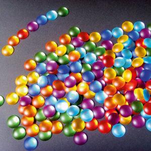 175 Stück Funkelsteine in 7 Regenbogenfarben zum Verzieren und Legen von Mustern