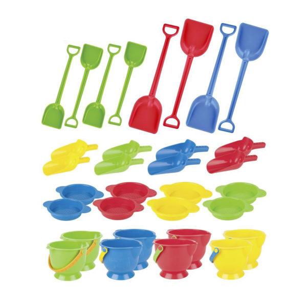 32-teiliges Sandspielzeug-Set bunt für Kindergarten und Krippe