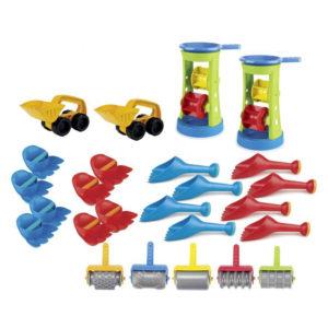 25-teiliges Sandspielzeug-Set bunt für Kindergarten und Krippe