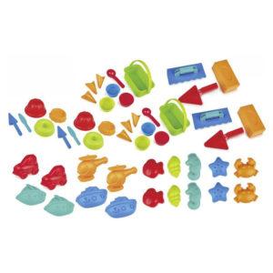50-teiliges Sandspielzeug-Set bunt für Kindergarten und Krippe