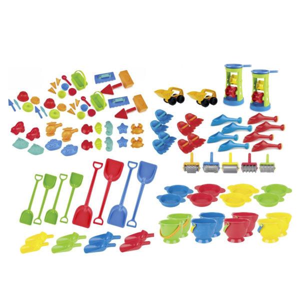 107-teiliges Sandspielzeug-Set bunt für Kindergarten und Krippe