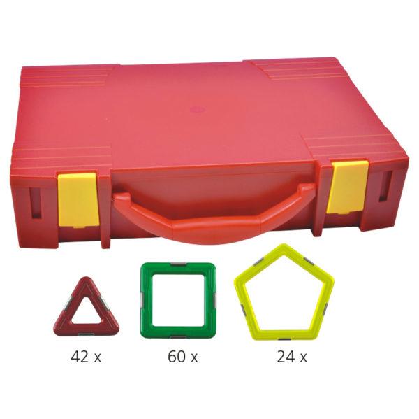 Geosmart 126-teiliges Kindergarten Set: magnetisches Konstruktionsspiel kompatibel mit Magformers