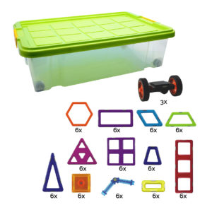 Geosmart 75-teiliges Kindergarten Set: magnetisches Konstruktionsspiel kompatibel mit Magformers