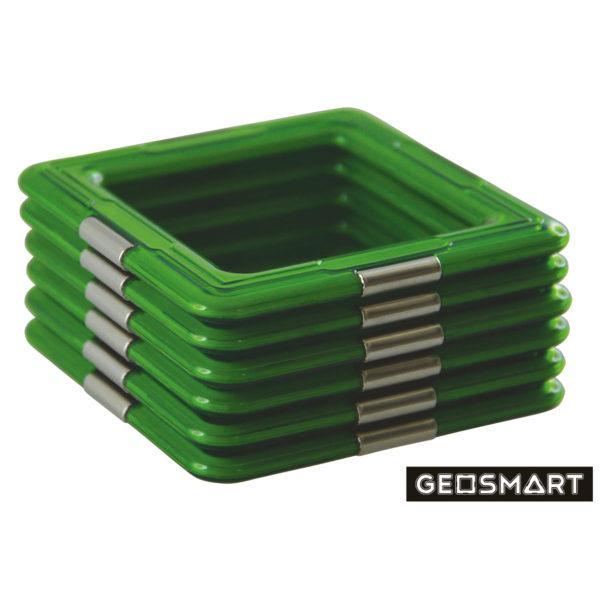 Geosmart Quadrate Set: magnetisches Konstruktionsspiel kompatibel mit Magformers