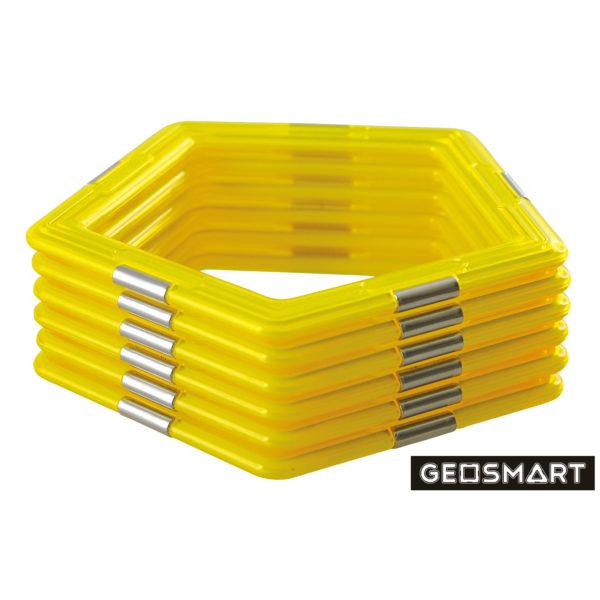 Geosmart Fünfecke Set: magnetisches Konstruktionsspiel kompatibel mit Magformers