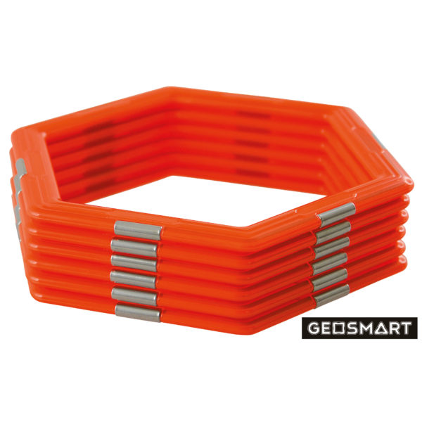 Geosmart Sechsecke Set: magnetisches Konstruktionsspiel kompatibel mit Magformers