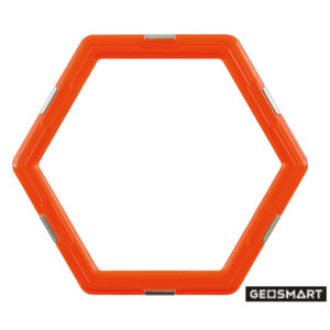 Geosmart Sechseck: magnetisches Konstruktionsspiel kompatibel mit Magformers