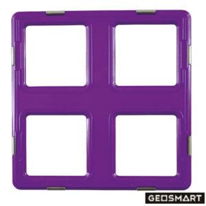 Geosmart Mega-Quadrat: magnetisches Konstruktionsspiel kompatibel mit Magformers