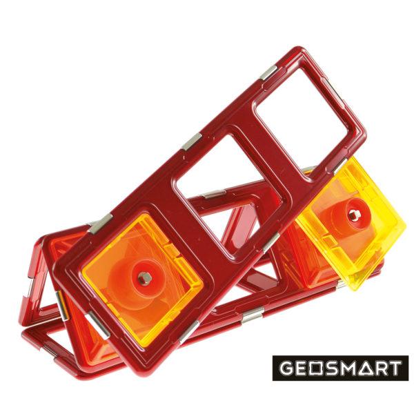 Geosmart Baubeispiel mit Spinner: magnetisches Konstruktionsspiel kompatibel mit Magformers