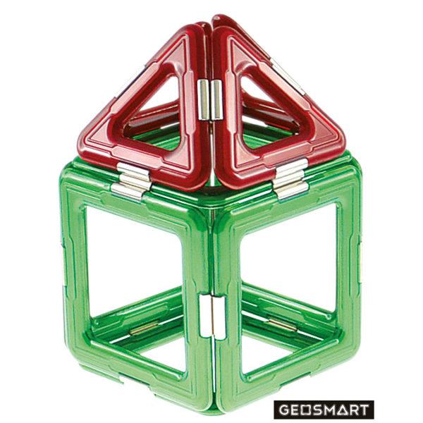 Geosmart Baubeispiel Haus: magnetisches Konstruktionsspiel kompatibel mit Magformers