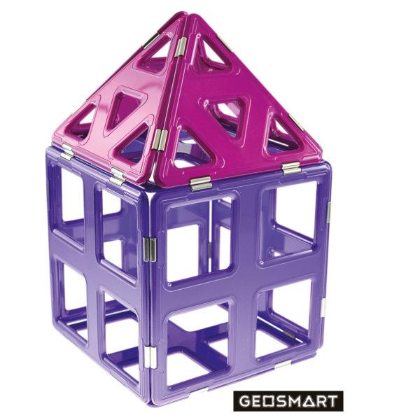 Geosmart Baubeispiel großes Haus: magnetisches Konstruktionsspiel kompatibel mit Magformers