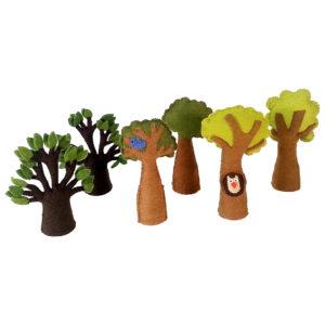 Filzbäume zum Spielen für Kinder