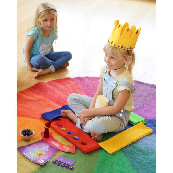 Geburtstagskreis im Kindergarten mit dem Farbenkreis.