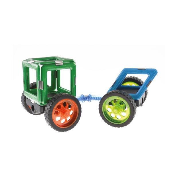 Geosmart Baubeispiel Traktor: magnetisches Konstruktionsspiel kompatibel mit Magformers