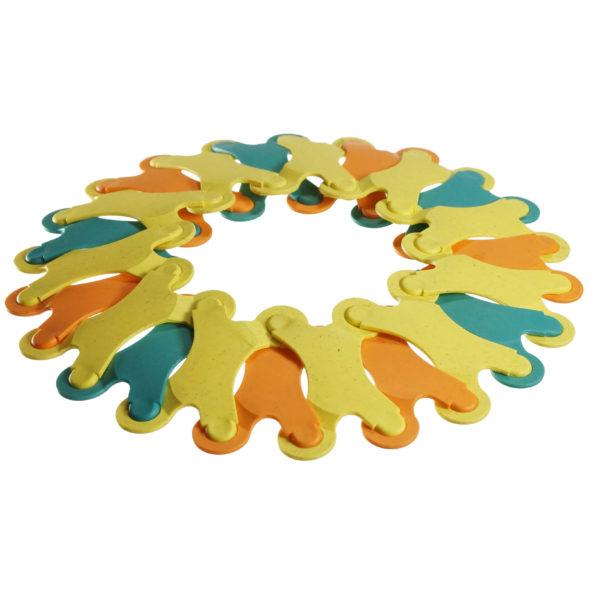Frisbee aus Binabo Öko-Bausteinen für Kinder und Erwachsene