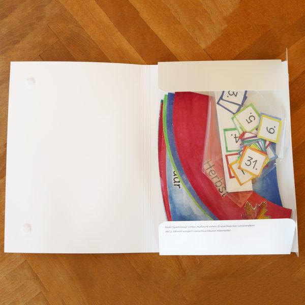 Kalenderkarten für Jahreskreis im Kindergarten Lieferumfang