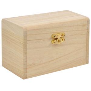Schatzkistchen aus Holz für Kinder zum Gestalten geschlossen