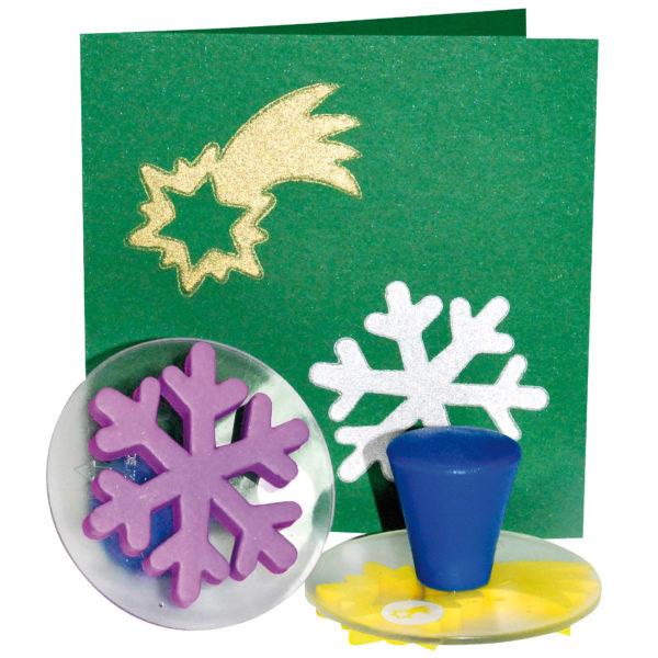 Gestempelte Weihnachtskarte mit Stempaln des Weihnachtsstempelsets