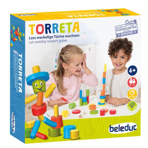 Ein Gesellschaftsspiel für das Kindergartenalter fü Feinmotorik, Zahlen und Farben